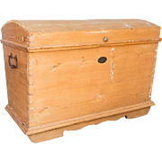 SALE Antique Pine Toy or Blanket Chest