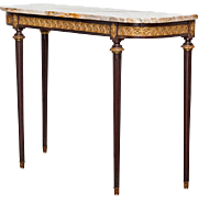 French Mahogany Antique French Mahogany Console Table Louis XVI style