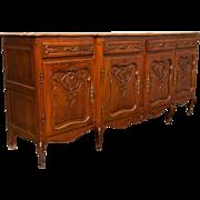 French Oak Vintage Sideboard