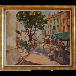 SALE A. Van OEYEN Oil on canvas Art Deco 1939