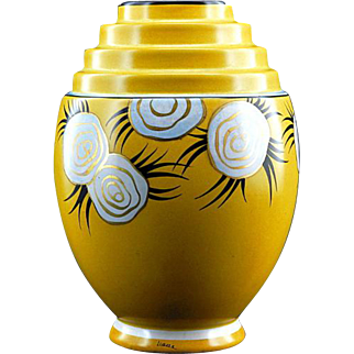 SALE Henri DELCOURT French Art Deco Liane Vase 1922-1923