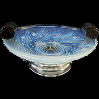 SALE CHOISY-LE-ROI French Art Deco Opalescent Fruit Bowl 1930