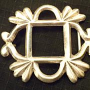 OLD PAWN - Large Indian Vintage Sand Cast Sterling SILVER Belt BUCKLE