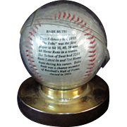 SALE Avon 100th Anniversary Babe Ruth Baseball with Stand