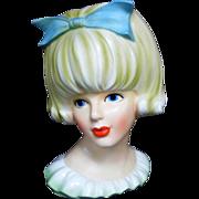 SALE Rare INARCO E-2968 Lady Head Vase Mitzi Gaynor or Doris Day