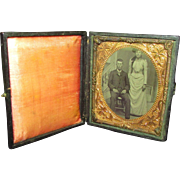 REDUCED Interesting Tintype or Ferrotype of a Man and Woman