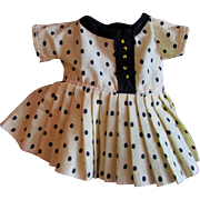 "SALE Vintage Black and Beige Dress for 8 or 9"" Ideal Vogue or other Doll"