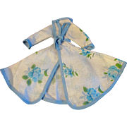 Lovely Blue and White Floral Clone Robe for Ideal Tammy Doll