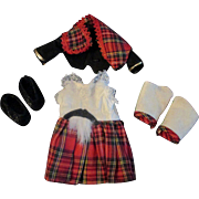 4 PC Vintage Scottish British Outfit for Vogue Ginny Doll