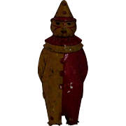 "SALE 7"" Lindstrom Johnny Clown German Tin Wind-Up Toy No mechanism"