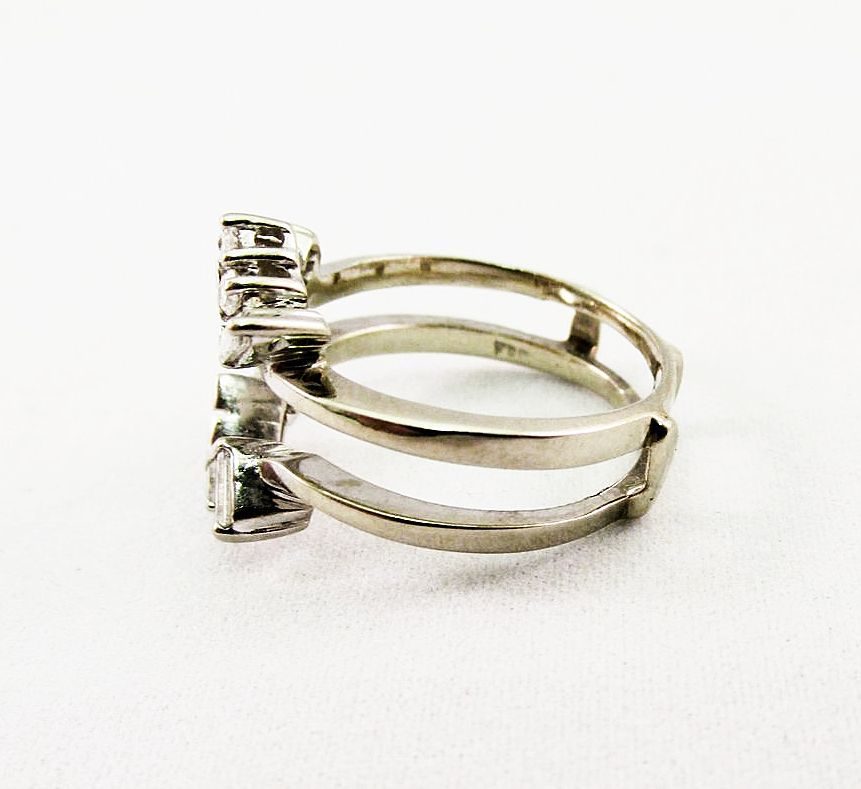 white gold wrap ring from