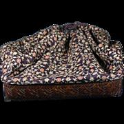 SALE Japanese Antique Woven Bamboo Shingen信玄 Enclosed Basket Bag