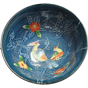 SALE Japanese Vintage Imari-Arita 万里焼 Blue and White Floral and Birds Bowl by the ...