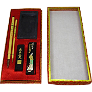 SALE Chinese Vintage Set of Calligraphy Tools