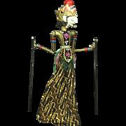 SALE Indonesian Vintage Java Shadow Puppet Doll for Wayang Kulit