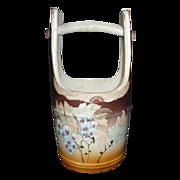 SALE Japanese Vintage Satsuma Stoneware Pottery Ornament or Decorative Mizu- baketsu, Water ..