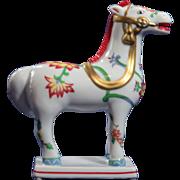 SALE Vintage Kakiemon Style Horse by Franklin Mint