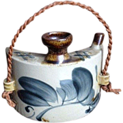 SALE Japanese Vintage 壺屋焼き Tsuboya-yaki Pottery of a Sake Hip Flask