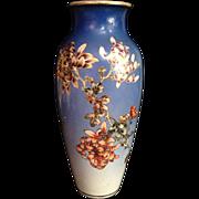 SALE Japanese Antique Large Rare Porcelain Kinkozan Vase signed Great Japan Kinkozan
