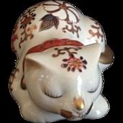 SALE Japanese Vintage Imari Style Floral 猫 Neko (Cat) Okimono/ Statue