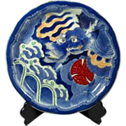SALE Japanese Antique or ko-Imari Highly Decorated Large Plate or Platter with Dragon Motif