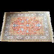 REDUCED Vintage Indian Agra Rug, 6' x 9'