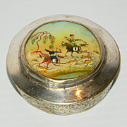 SOLD Persian Silver & Hand Painted Mother of Pearl Box