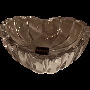 SALE Mikasa Crystal Heart Ring/jewelry/trinket dish~ NOS