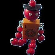 SALE Bakelite Movable Man Pin/Brooch