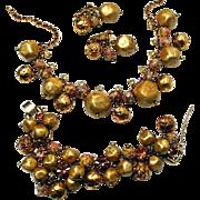 SALE RARE~Juliana DE Book Piece Rhinestone and Venetian Beads Parure