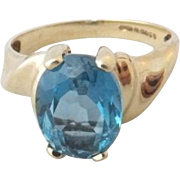 SALE 9K London Blue Topaz Ring