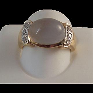 REDUCED STORE WIDE 14K Moonstone Diamond Ring
