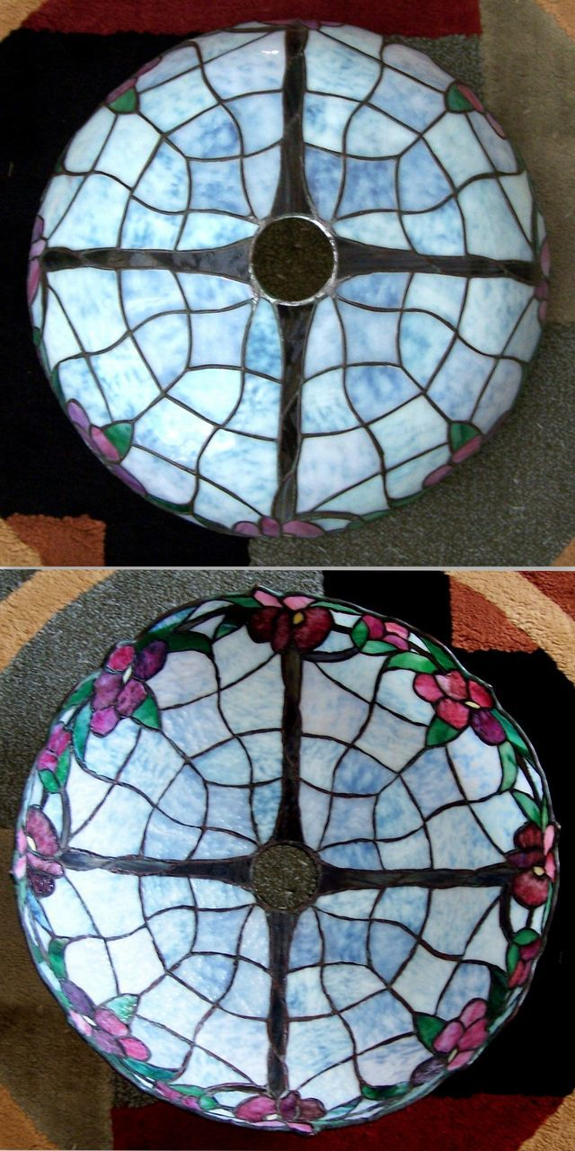 Antique J A Whaley Leaded Glass Lamp From Rubylane Sold