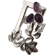Handmade Silver Amethyst Grapes Ring - Unique design Ring
