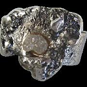 Raw Rough uncut Diamond 0.9 Carat ring - Handmade Diamond Ring