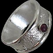 Handmade Ruby Ring - Mens ring - For Boyfriend Husband - Made to order ring
