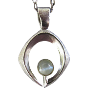 SOLD Chrysoberyl cat's eye Pendant