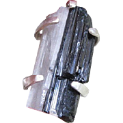Black Tourmaline and Quartz Ring