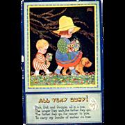 Raphael Tuck Oilette Postcard Quaint Folk Series All Very Busy by Chloe Preston artist signed