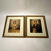 SALE Victorian Era Male and Female Prints