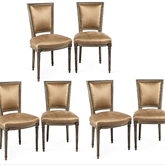 REDUCED Set of Six circa 1900 Louis XVI-Style Neo Classical Dining Chairs