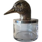 Vintage Glass Lidded Bowl by Italian designer Franco Lagini, circa 1960s