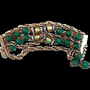 Unsigned Hobe green bracelet