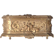 SOLD 19th c. French Gilt Bronze Jewelry Casket