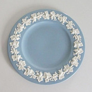 Wedgwood of Etruria & Barlaston - Blue Embossed Queen's Ware Plate