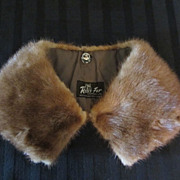 SALE Removable Mink Collar for Coat or Sweater