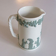 Wedgwood of Etruria & Barlaston - Pitcher/Jug, Celadon on Cream