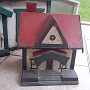 Wonderful Folk Art Doll's Doll House