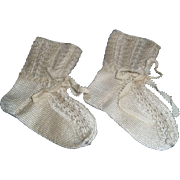 Early 20c. Silk Knitted Lace Socks for Jumeau,Steiner