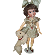 "SOLD Little Steiff ""Snobby"" the Poodle for your 10-12"" doll or French Fashion"